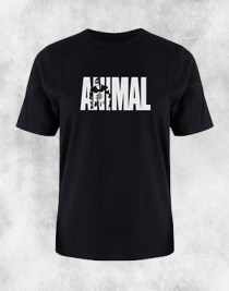 animal crna majica beli natpis