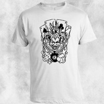 poker joker bela majica