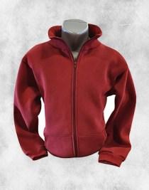 Duks jakna bordo sa kragnom