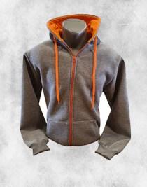 Duks jakna tamno siva sa narandžastom