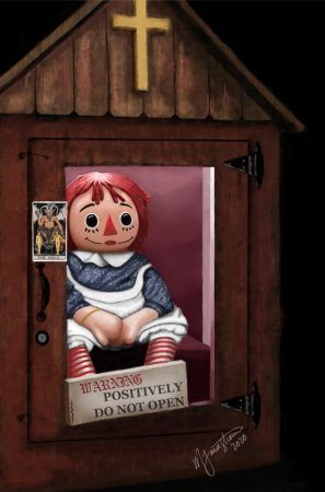 The Real Annabelle doll locked up in the Warren Occult Museum
