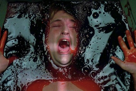 Dr. Alan drowning in blood in a nightmare