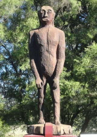 Yowie Statue in Yowie Park, Kilcoy, Queensland