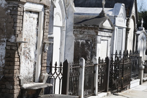 Lafayette Cemetery 2 Puzzle Box Horror images graves row of tombs and fence