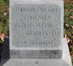 Tombstone of H.P. Lovecraft