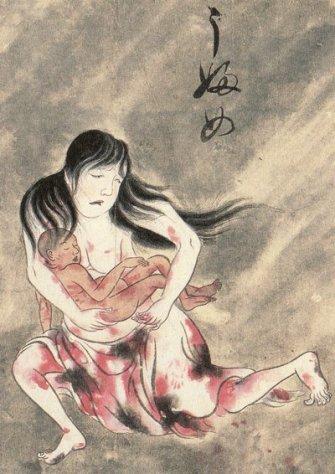 Suuhi Ubume, cradling her dead child