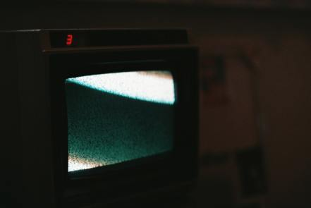 Static image on television screen