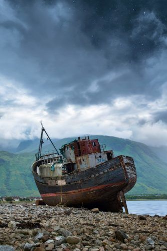 Ghost ship on land