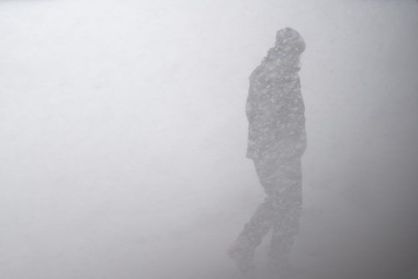 Walking in a blizzard