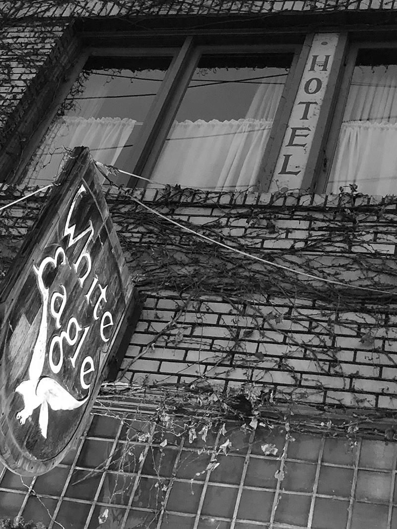 White Eagle Hotel Sign