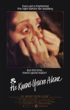 He knows you're alone horror movie poster