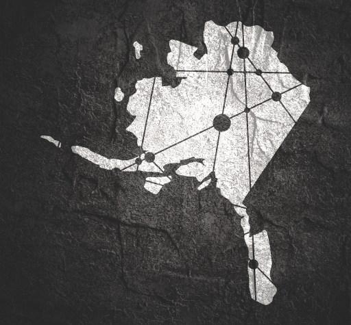 Alaska map including the Alaska Triangle