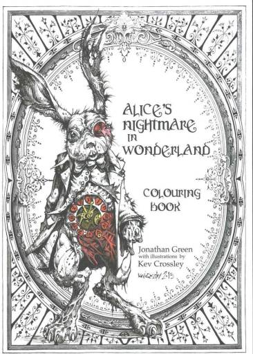 Alice's Nightmare in Wonderland Coloring Book