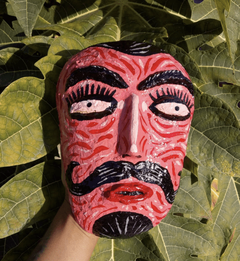 Red Mexican Devil Mask