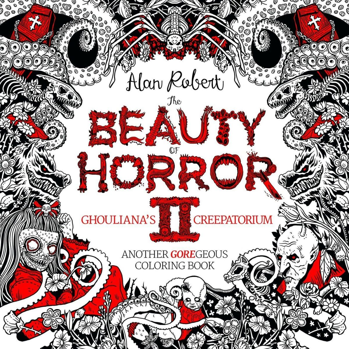 Beauty of Horror 2 horror coloring book
