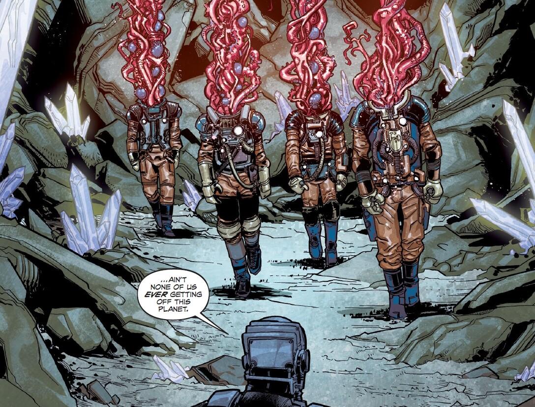 Spacemen vs aliens art from rogue planet horror comic