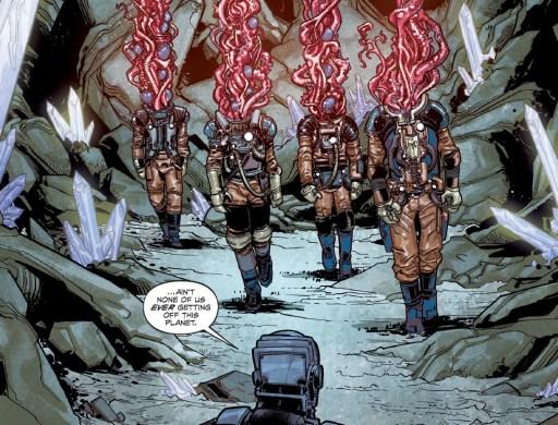 alien spacemen art from Rogue Planet horror comic