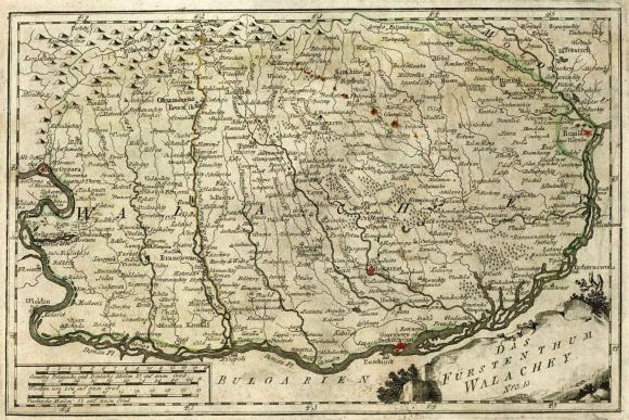 Map of Wallachia and Transylvania region 1400's