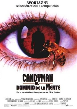 Candyman Urban Legend Horror Movie Poster with a bee in an eye
