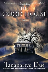 The Good House book cover with house on a hill