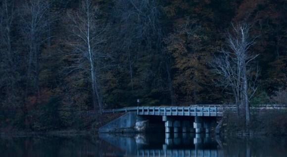 Creepy bridge at night