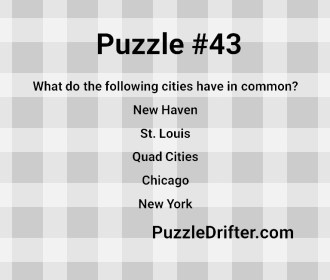 Puzzle #43: Around the US
