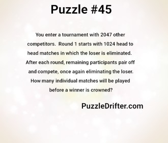 Puzzle #45: Back to Back