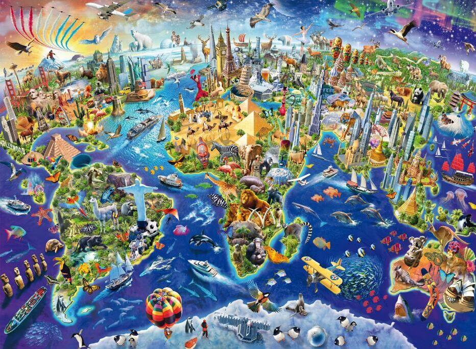 Colorful world map wooden jigsaw puzzle 500 pieces puzzle mind fitness colorful world map wooden jigsaw puzzle 500 pieces gumiabroncs Images