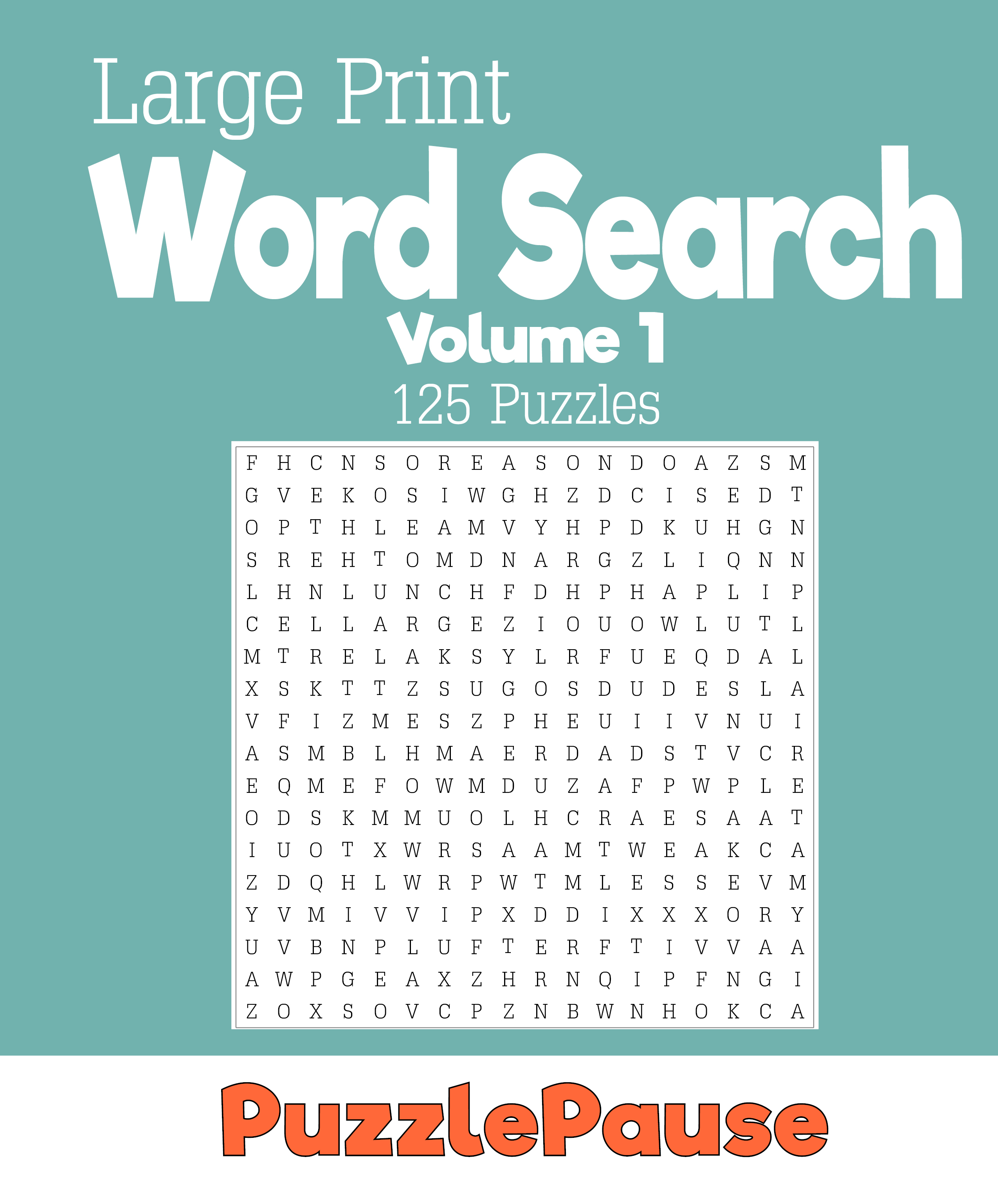 image regarding Large Printable Word Search named Huge Print Term Appear PuzzlePause