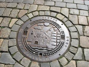 Round shape manhole cover