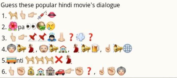Guess hindi_movie dialogues from whatsapp emoticons