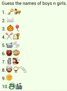 Guess names of boys and girls whatsapp puzzle