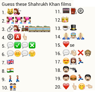 guess these shahrukh khan films