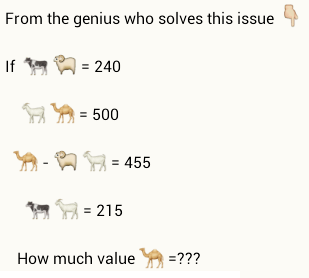 whatsapp value of camel puzzle