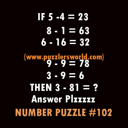 Number-puzzle-102,--5--4-=-23