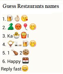 Guess restaurants names