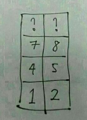 ? 7 4 1 ? 8 5 2