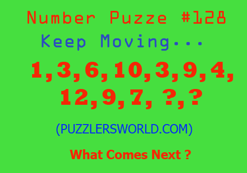 Number-Puzzle-#128,-Keep-moving