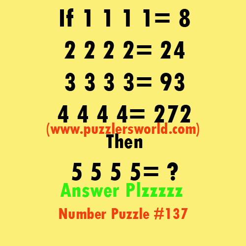 Number-Puzzle-137,-if-1111=8
