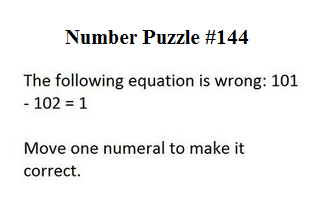 number puzzle 144