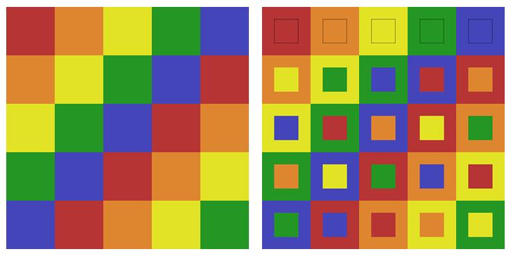 Latin and Graeco Latin Squares Order 5