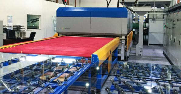 Glass Tempering Furnace at Triview Glass Industries, producing fully tempered and heat strengthened glass, up to five times stronger and safer than untreated products.