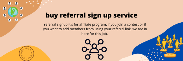 buy referrals sign up