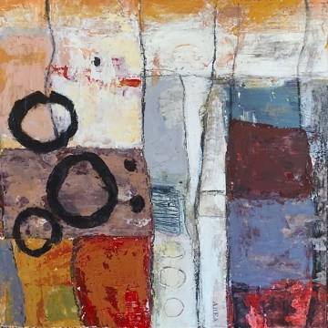 """Area Unknown by Kathryn Stowell, Mixed Media 8"""" x 8"""""""