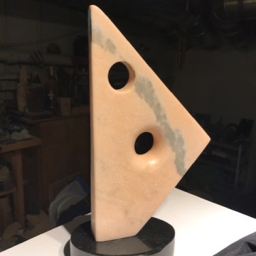 "Hepworth Tribute by Jeff Arnett, Sculpture  12"" x 6"" x 1.25"""