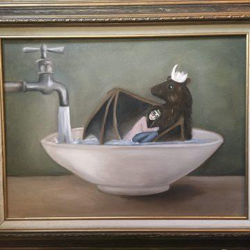 "Bat Soup by Brogan Dahl, Oil on Canvas 20"" x 24"""