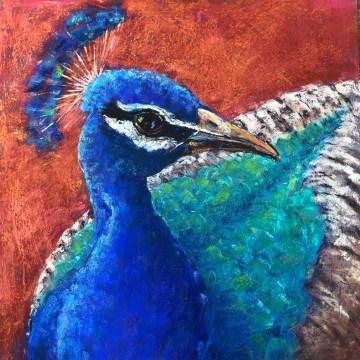 """Albuquerque Dandy by Deborah Hill, Pastel on Board 16"""" x 16"""""""
