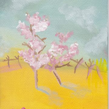 "Spring Shadow by Larissa Balsley, Acrylic 4"" x 6"""