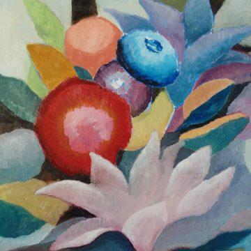 "Garden #72 by Laura Crosser, Oil Painting 14"" x 11"""