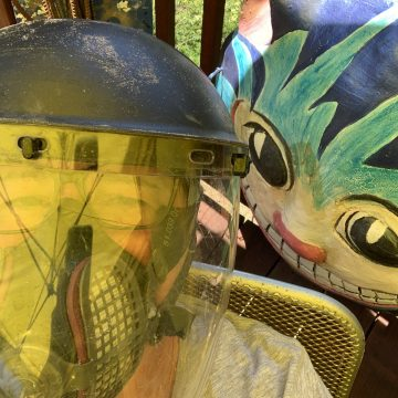 Covid Art Warrior - Studio Selfie of Lyn MacDonald